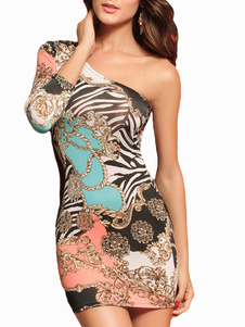 Zebra Print Acrylic Club Dress