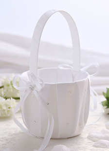 Flower Girl Basket with Beading