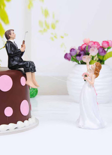 Classic Traditional Figurine Funny Wedding Cake Topper