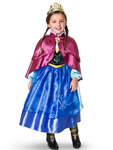 Azul Frozen Anna Vestido 2018 Halloween