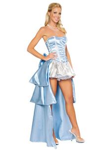 Sleeping Beauty Halloween Costume Light Sky Blue Fairytale Princess  Costume Cosplay