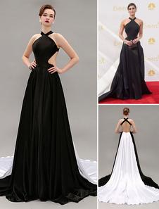 black-a-line-halter-sweep-celebrity-dress