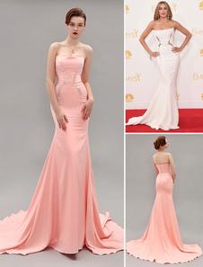 ivory-strapless-beaded-sweep-celebrity-dress