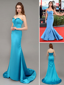 ocean-blue-sweep-satin-celebrity-dress-with-sweetheart-neck