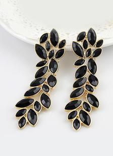 Image of Orecchino di marchesa nero bucato con pendenti vintage per feste di metallo per donne