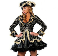 Halloween Pirates of the Caribbean Dress for Woman Sexy Gorgeous Adult Pirate Costume Cosplay