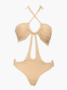 Naughty OnePiece Halter Polyester Spandex Womens Monokini Swimsuit
