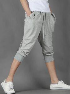 Image of Pantaloni griri in cotone per uomo