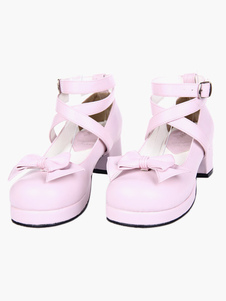 Image of 1 4 / 5''PU Heel Shoes Lolita Pink
