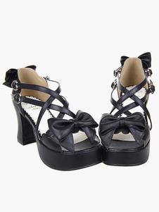 2-910-heel-1-15-platform-black-crossing-straps-bow-pu-lolita-shoes