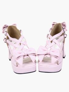 2-910-heel-2-710-platform-pink-crossing-straps-bow-pu-lolita-shoes