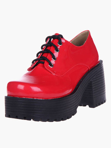 glossy-red-lolita-heels-shoes-square-heels-platform-shoes-with-shoelace