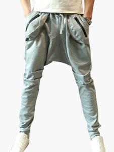 Image of Pantaloni da uomo 2019 Harem Pantaloni Pantaloni con cerniera da