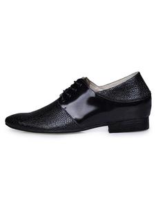 Zapatos de vestir de cuero con cordones para los hombres