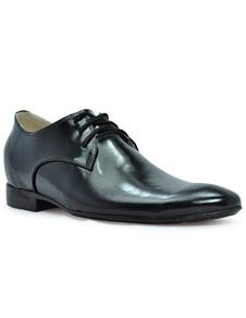 Herren Elevator Schuhe aus Rindleder in Schwarz