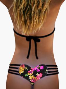 Image of Tagliare fuori Bikini slip donna Bikini stampato bella Lycra Spandex
