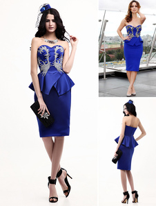 royal-blue-strapless-applique-celebrity-peplum-dress
