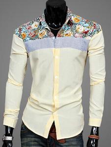 Image of Camicia a maniche lunghe con Patchwork