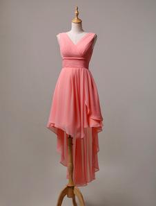 robe demoiselle dhonneur a ligne chiffon - Milanoo Robe De Soiree Pour Mariage