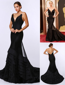 sexy-black-deep-v-mermaid-evening-dress-inspired-by-charlize-theronk-at-oscar