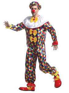 Halloween Clown Costume Colorful Circus Showing Costume Cosplay
