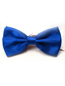 Image of Seta elastico di chic Royal Blue Man come Satin Bow Tie