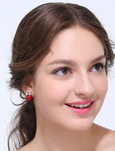 red-fashion-metal-zircon-bride-ear-stud