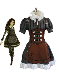 Image of Alice: Madness Returns Alice Steampunk Dress ecopelle  Carnevale