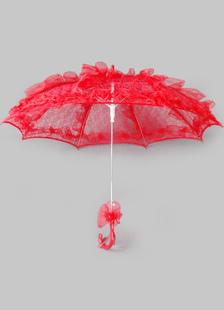red-wedding-umbrella-flower-lace-decor-bridal-accessories