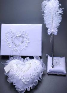guest-books-pens-santin-lace-applique-wedding-reception