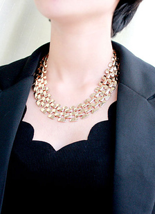 Image of Cut-out metallico a strati Choker