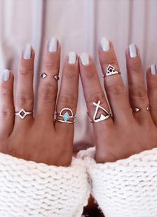 Anillas geométricas 6 piezas
