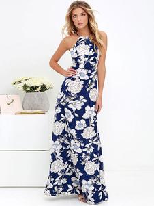 Image of Abito lungo estivo con stampa floreale e abito lungo con stampa