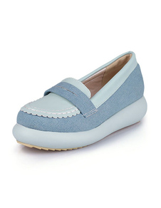 flatfrom-shoes-two-tone-round-slip-on-casual-shoes