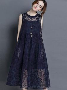 lace-sleevelsss-longline-smock-dress