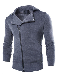 Maglia giacca Slim zip leggero cappotto In nero/grigio uomo