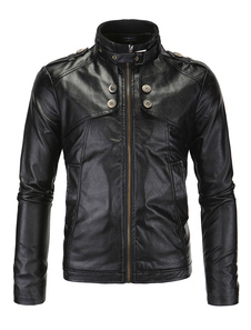 leather-biker-jacket-for-men-in-black-red-slim-fit-stand-collar-coat