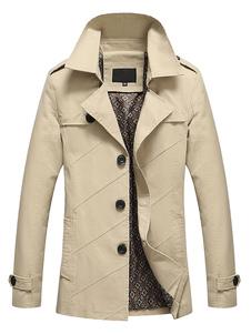 Abrigos y chaquetas de gabardina negro/rojo/caqui/Marina Slim Fit hombre chaqueta