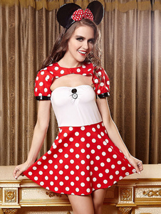red-halloween-costume-women-backless-polka-dot-dress