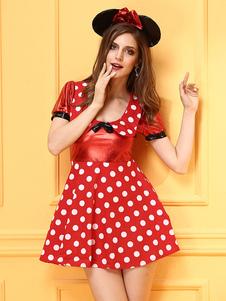 women-halloween-costume-red-polka-dot-micky-mouse-short-dress