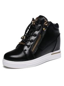 hidden-heel-sneakers-men-platform-golden-zipper-lace-up-skate-shoes