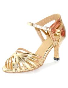 Image of Sbirciare da ballo ballo scarpe donna oro tacchi alti