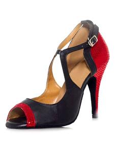 Image of Peep scarpe scarpe da ballo per tacchi alti da donna bicolore