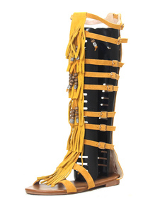 gladiator-women-sandals-suede-tassel-boho-sandal-boots
