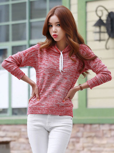 hooded-knit-sweaters-women-academic-style-drawstring-pullover-sweaters