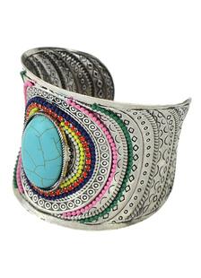 boho-women-bracelet-blue-gemstone-alloy-bracelet