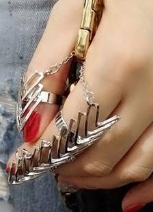4 piezas Punk declaración anillo conjuntos femenil en capas de anillos