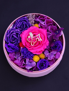 personalized-wedding-gifts-rose-artificial-flower-round-box-11-cm-x-21-cm-x-11-cm