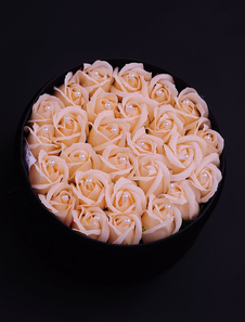 round-personalized-wedding-gifts-box-artificial-flower-pink-rose-pearl-studdeddiameter21cm