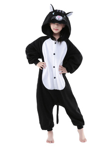 kigurumi-pajama-cat-onesie-childrens-black-flannel-sleepwear-costume